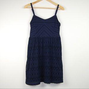 Lilka Anthropologie Dress Navy Blue S